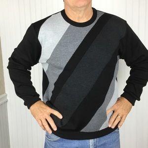 Marcello Sport Merino Wool Blend Geometric Sweater